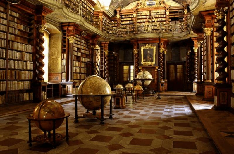 Географический зал в библиотеке Клементина