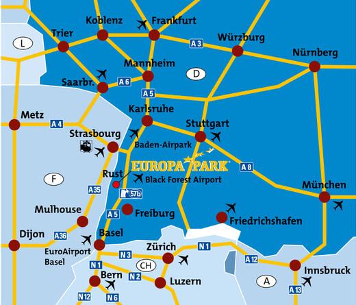 Европа-парк на карте