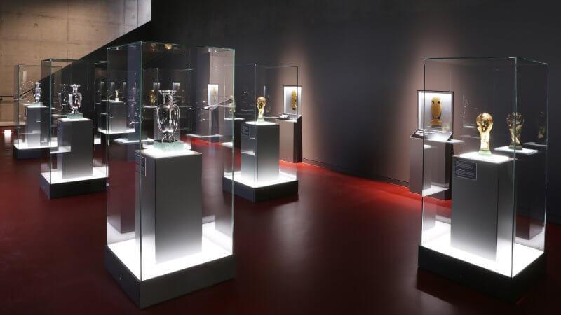 Зал славы в музее немецкого футбола