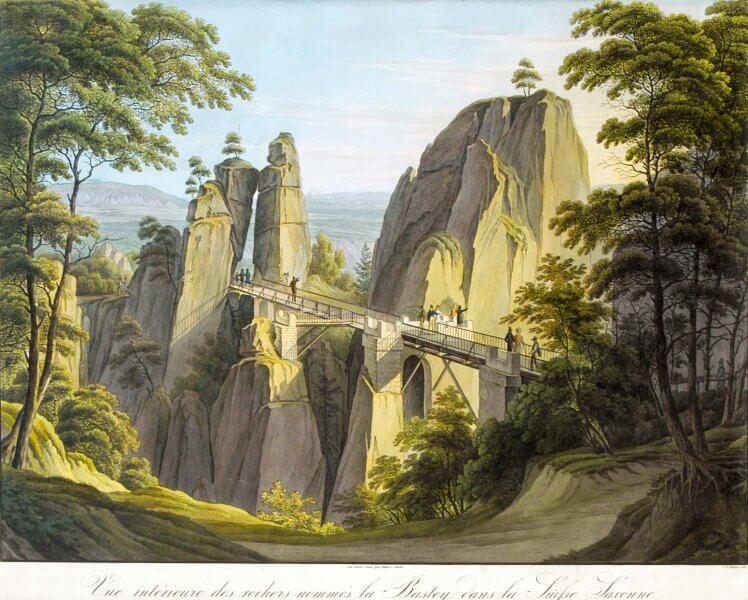 «Felsenpartie im Elbsandsteingebirge»