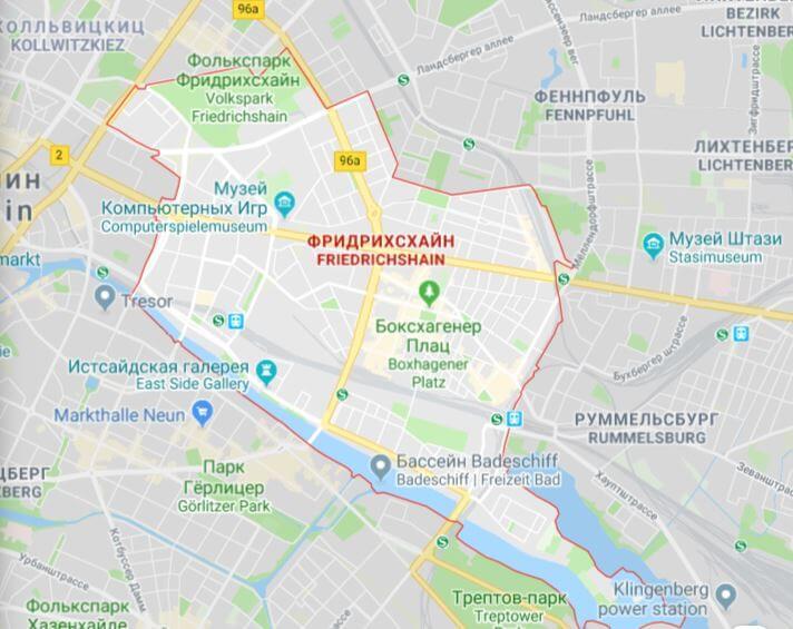Карта Фридрихсхайна