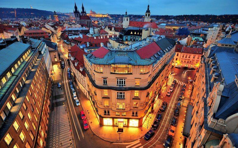 Огни вечерней Праги