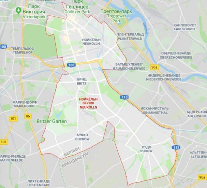Карта Нойкёльна