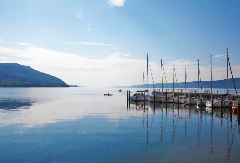Лодки на Боденском озере