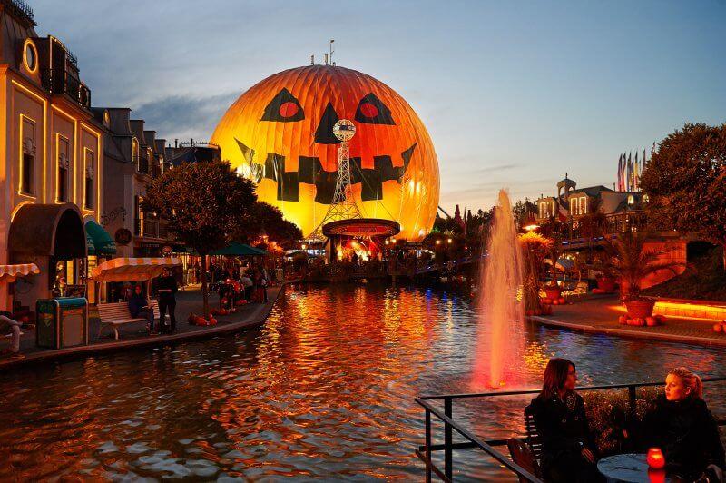 Световое шоу в Европа-парке