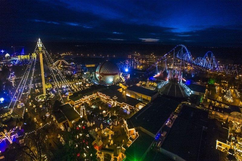 Вид на вечерний Европа-Парк