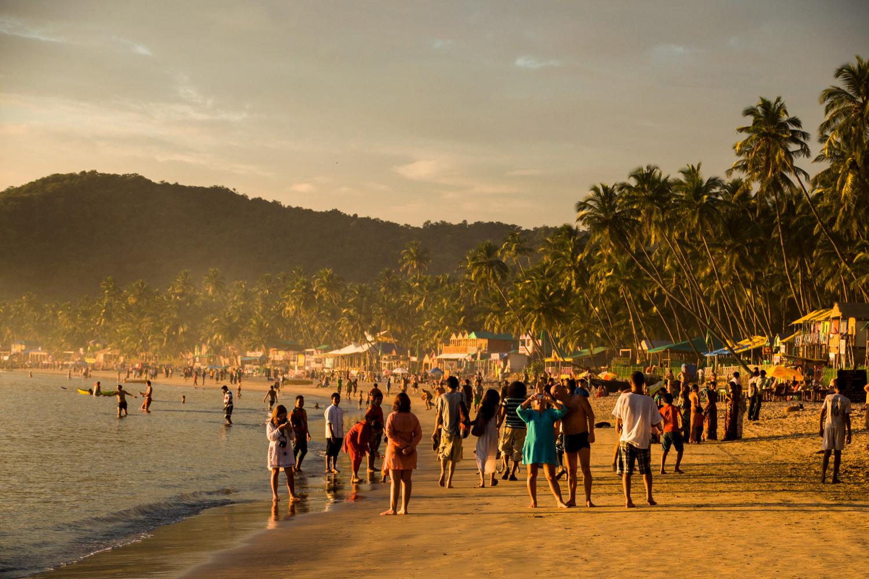 Пляж Палолем на юге Гоа