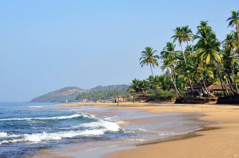 Вид на пляж Анджуна