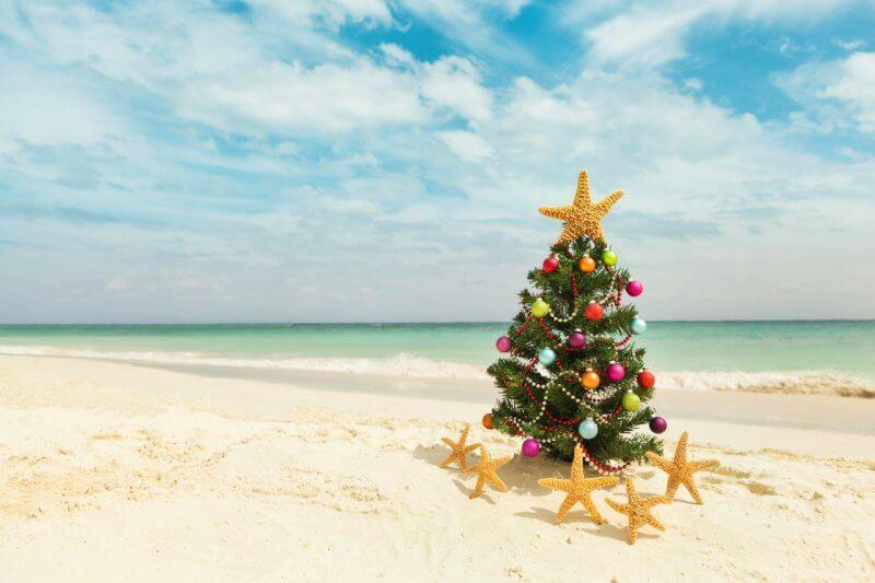 Новогодний пляж