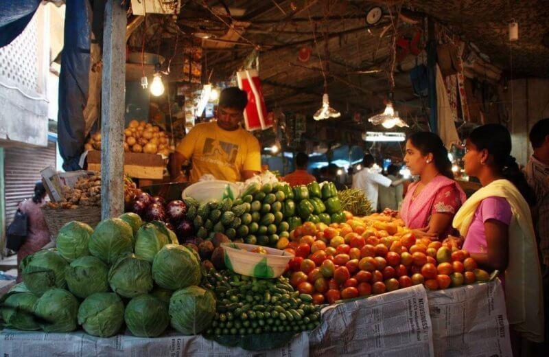Овощи на рынке Маргао