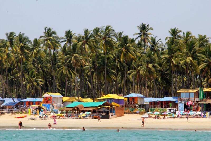 Инфраструктура пляжа Палолем