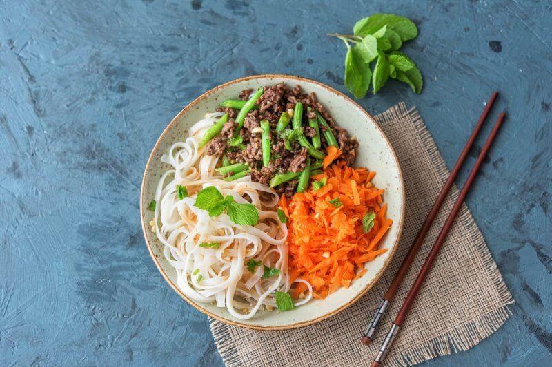 Порция риса и мяса