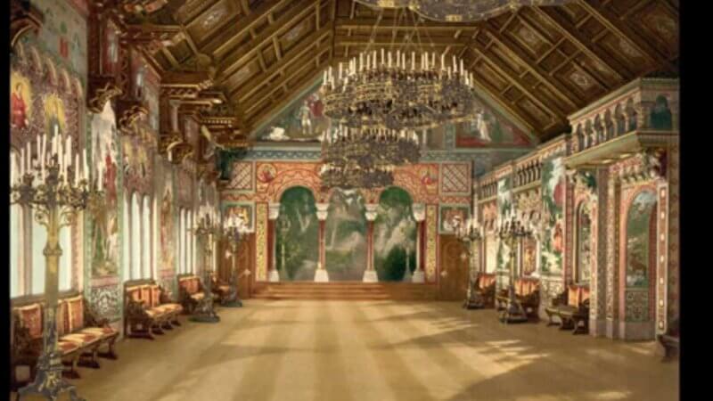 Парадный зал в замке Нойшванштайн
