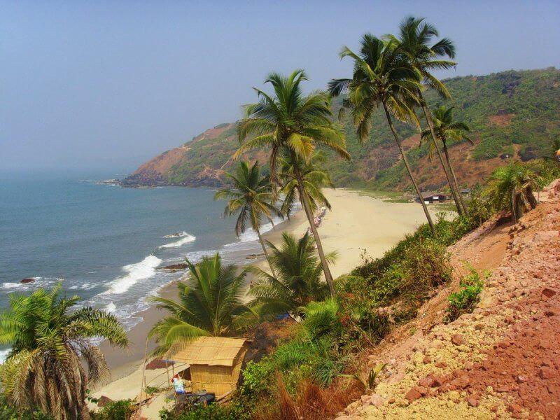 Вид на пляж Северного Гоа