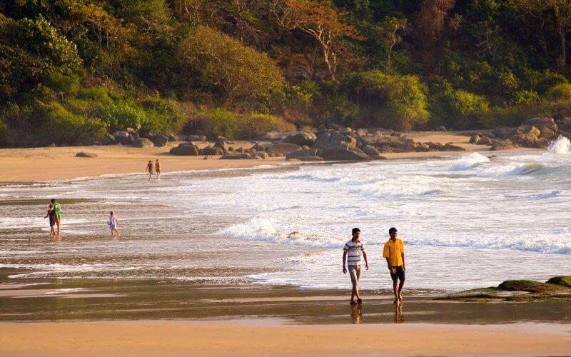 Вид на пляж Агонду