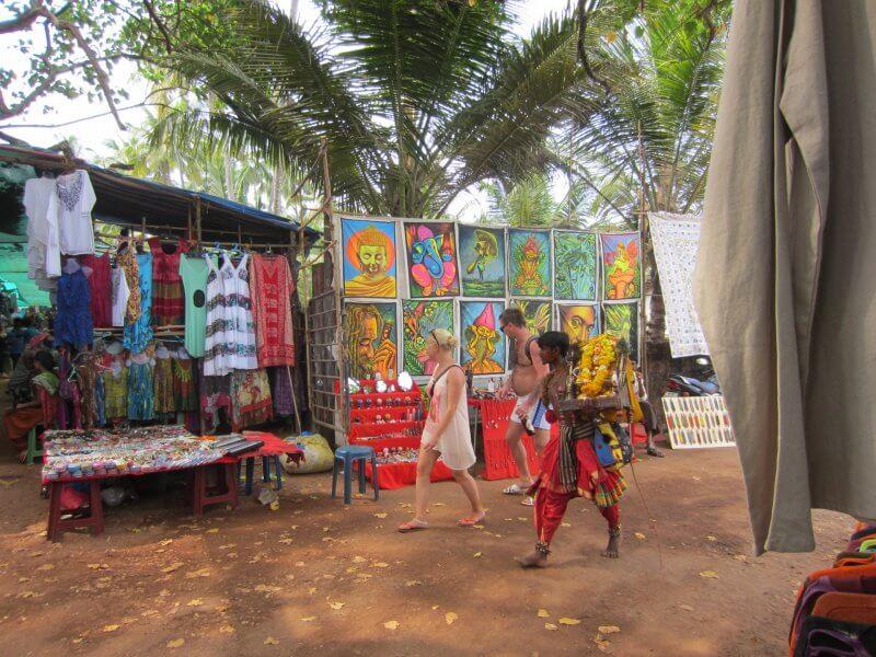 Рынок в Анджуне в Северном Гоа