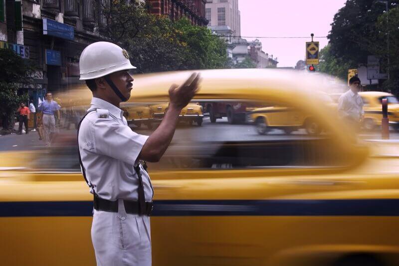 Полицейский в Калькутте