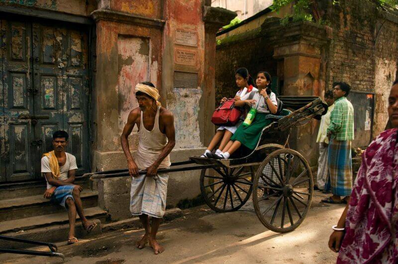 Рикши в Калькутте