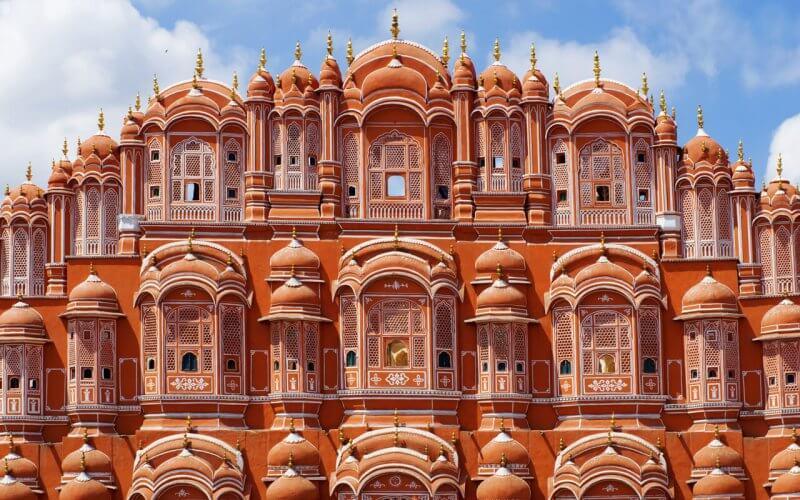 Фасад дворца Ветров в Джайпуре