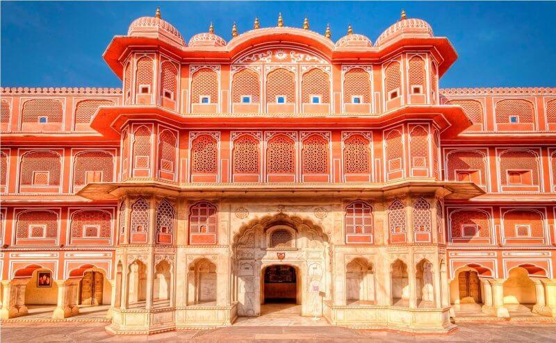 Вид на городской дворец в Джайпуре