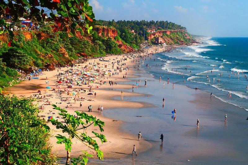 Пляж в штате Керала