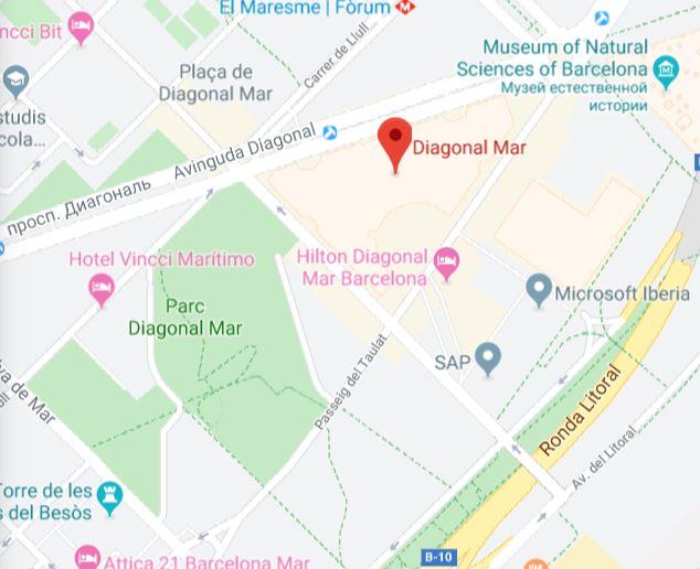 Карта района Диагональ-Мар