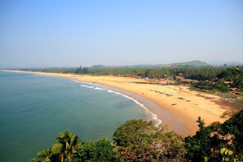 Вид на пляж Гокарны