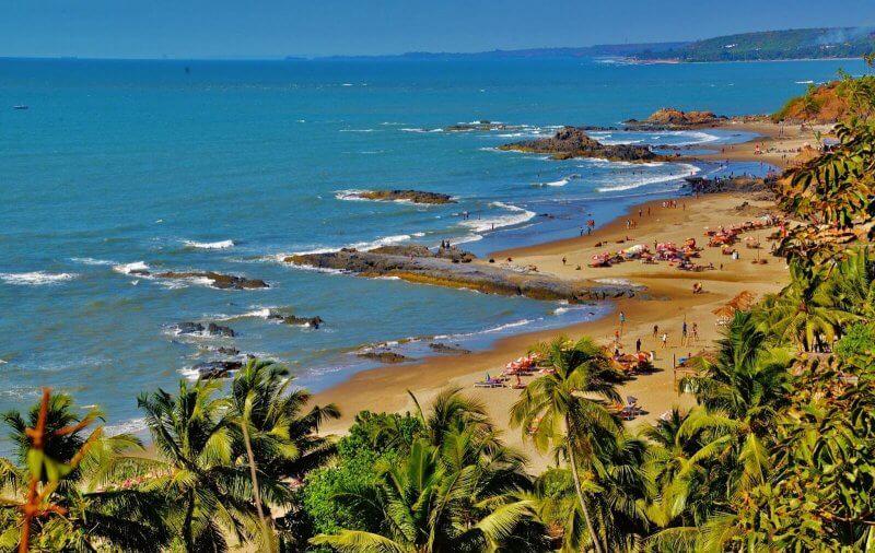 Вид на пляж Вагатор
