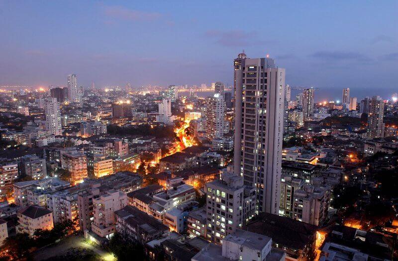 Вид на достопримечательности Мумбаи