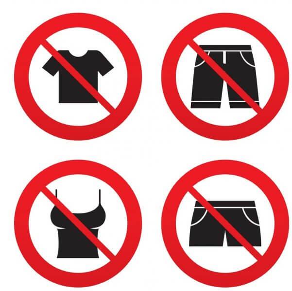 Запрещено одевать в храм