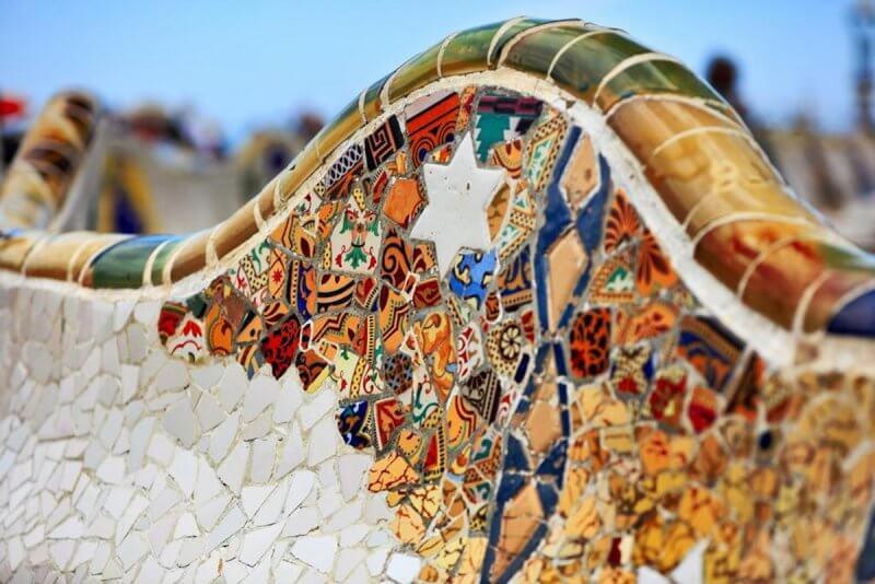 Мозаика в парке Гуэль Антонио Гауди