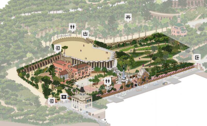 План парка Гуэль