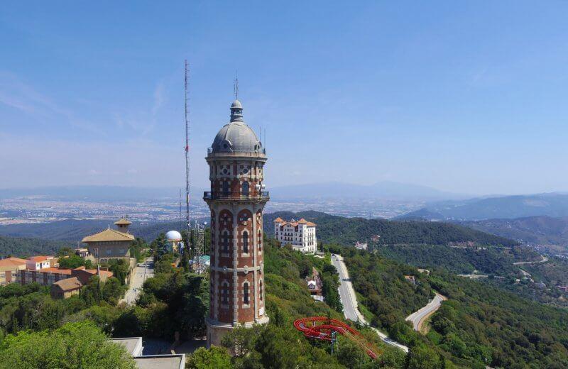 Водонапорная башня на горе Тибидабо