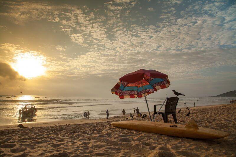 Инфраструктура пляжа в Калангуте