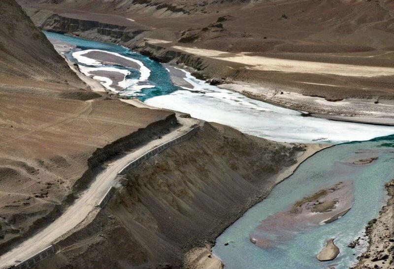 Слияние рек Инд и Занскар