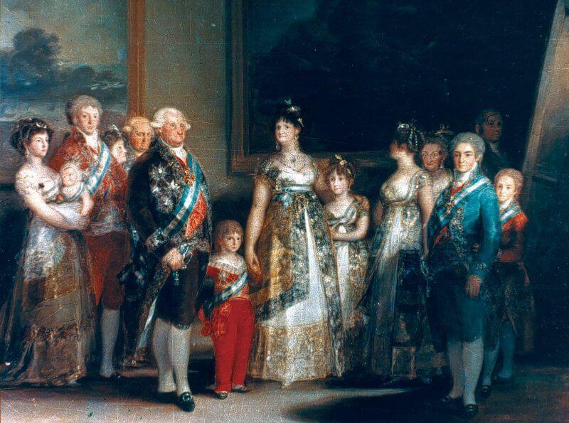 Портрет семьи Карла IV, Франсиско Гойя
