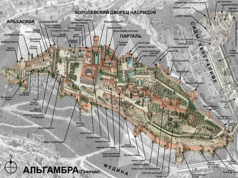 План Альгамбры