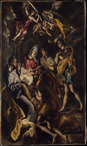 Поклонение пастухов, Эль Греко