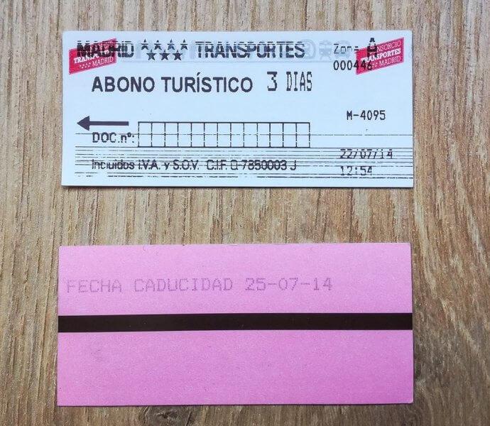 Туристический проездной Abono Turistico