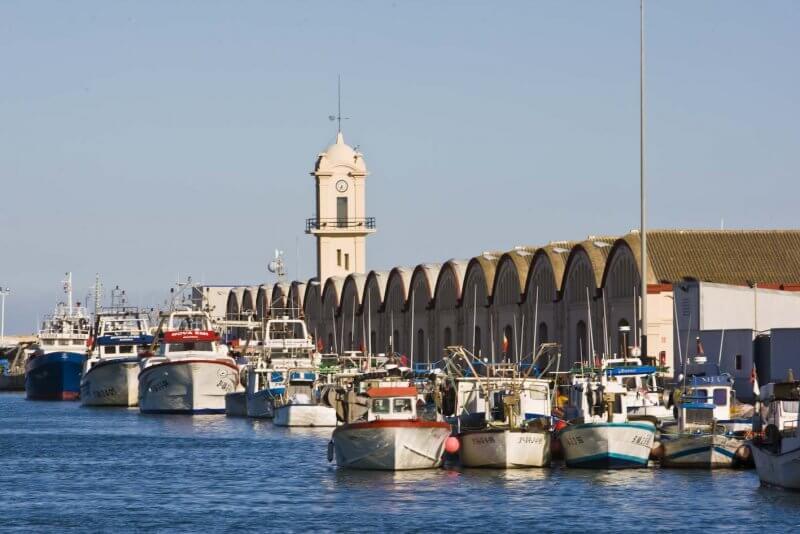 Вид на порт Гандии