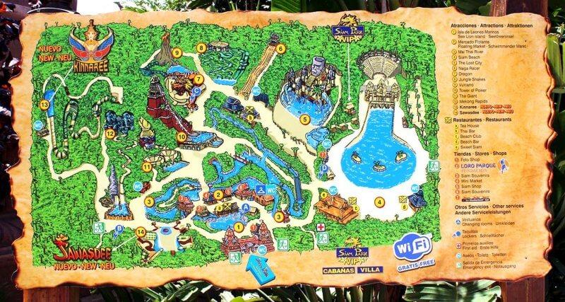 Схема Сиам парка