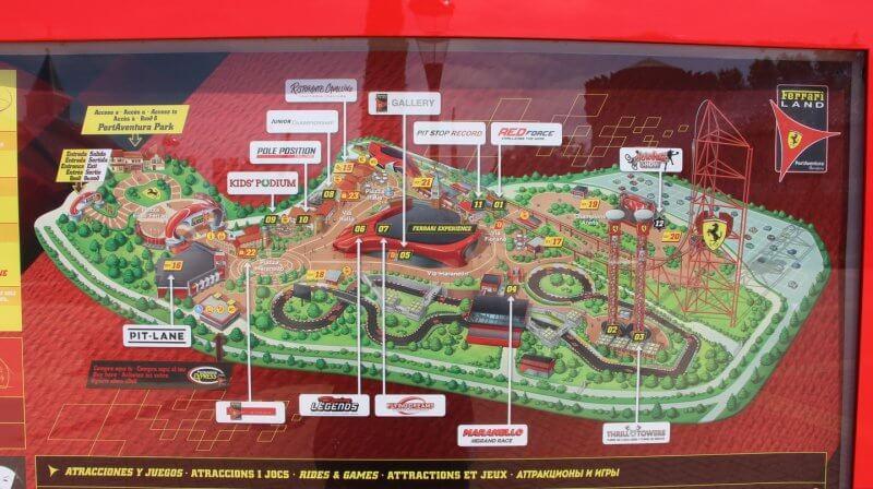 Схема Ferrari Land