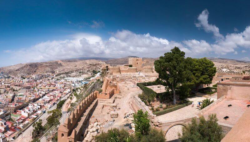 Вид на город Альмерия