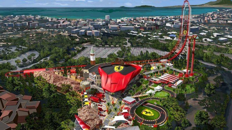 Вид на Ferrari Land