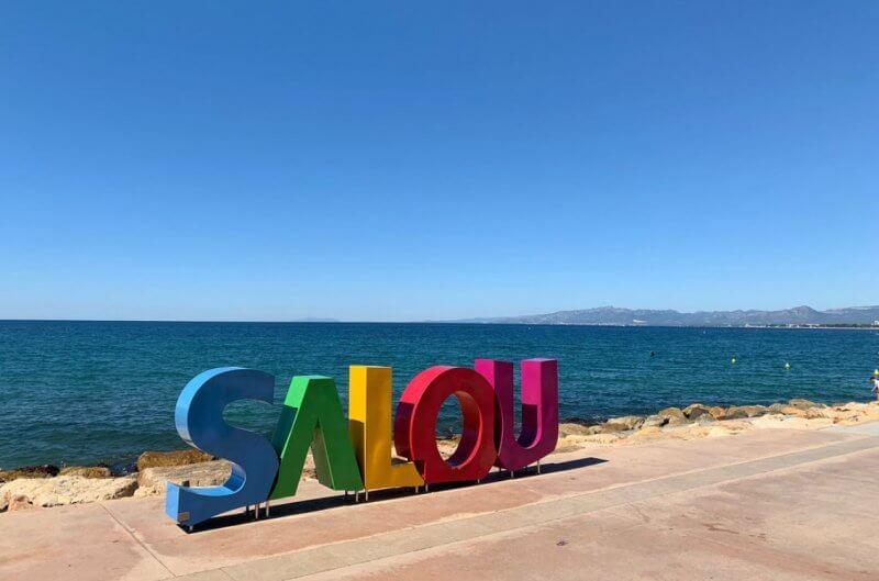 Буквы Salou на набережной