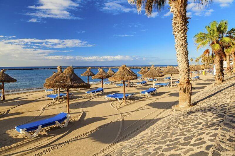 Вид на пляж Тенерифе