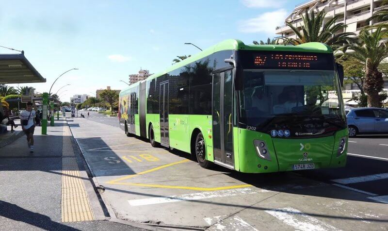 Автобус в Лос-Кристианос