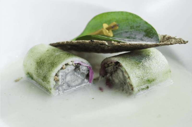 Блюдо в ресторане Mirador de Ulía
