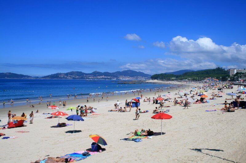 Пляж Самиль в городе Виго