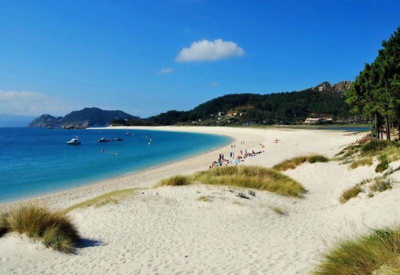 Пляж Вао в городе Виго